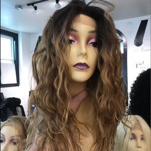 Accessories - Wig blonde ombré mix wavy messy curly sexy 2019